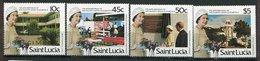Ste Lucie ** 814 à 817 SPECIMEN - 60 Ans De La Reine Elizabeth II - St.Lucie (1979-...)
