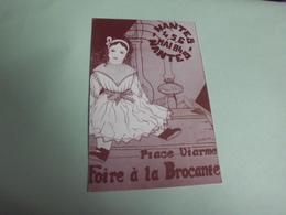 FOIRE A LA BROCANTE ..PLACE VIARME NANTES 1984...SIGNE JOURS ??? - Bourses & Salons De Collections