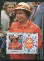 Ste Lucie ** Bloc 46 - 60 Ans De La Reine Elizabeth II - St.Lucia (1979-...)