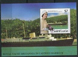 Ste Lucie ** Bloc 47 - 60 Ans De La Reine Elizabeth II - St.Lucia (1979-...)