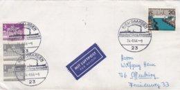 Germany Cover Posted Kiel-Gaarden 1964 Stapellauf 1. Europäische Atomschiff  (DD24-41) - Ships