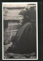 AK Tejedora Tehuelche, Teppichweberin In Argentinien - Indianer