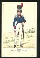 Künstler-AK Geneve, Officier Des Grenadiers Tenue D'Eté, Schweizer Soldat 1814 - Militaria