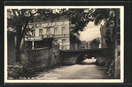 AK Lübz, Partie An Der Sägemühlenbrücke - Lübz