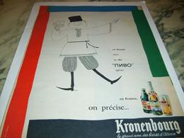 ANCIENNE AFFICHE PUBLICITE BIERE EN RUSSIE KRONENBOURG 1959 - Alcools