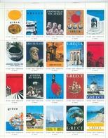 Greece Grèce Griechenland Grecia 1970-1971, National Tourism Organisation, Sheet Of 20 Vignettes, Poster Stamps - Erinnophilie