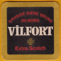 Sous-bock Cartonné - Bière - France - Vilfort Extra Scotch - Grande Bière Brune Du Nord - Années 70 - Sous-bocks
