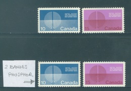 CANADA  - MNH/*** LUXE - 1970 - UNO  - Yv 434-435 434a-435a WITH PHOSPHOR - Lot 18492 - 1952-.... Règne D'Elizabeth II