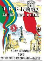 B056 - ASSOCIAZIONE NAZIONALE DEL FANTE - XXII RADUNO NAZIONALE TRENTO 21/22.05.1994 -  ANNULLO SPECIALE - Régiments