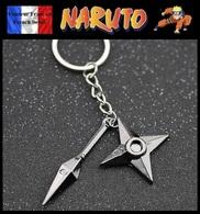 Porte Clés NEUF En Métal ( Keychain ) - Manga Naruto Shuriken ( Ref 2 ) - Porte-clefs