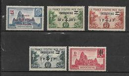 Colonie Timbre D'indochine De 1944/45  N°295 A 299 Neufs - Indochine (1889-1945)
