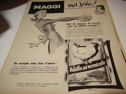 ANCIENNE PUBLICITE POTAGE DE VOLAILLE  DE  MAGGI 1954 - Affiches