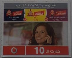 Egypt -Vodafone   Medium Size Phone Card 10 LE (Egypte) (Egitto) (Ägypten) (Egipto) (Egypten) Africa - Egipto