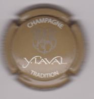 Capsule Champagne LAVAL Y. ( 5e , Tradition , Gris Et Blanc ) Mise Sur Bouteille {S50-18} - Champagne