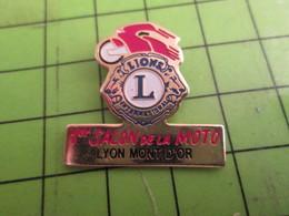 816a Pin's Pins /  Rare Et De Belle Qualité : THEME MOTOS : LION'S CLUB SALON DE LA MOTO LYON MONT D'OR - Motorbikes