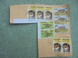 S077: NIGERIA STAMPS 3 X N500, 5 X N100, 2 X N40. Postmark Victoria Island  Dated. I Think, 27/09/03. - Nigeria (1961-...)