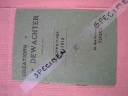 """Tours Créations """"DEWACHTER"""" 1911/12 50 Rue Nationale Mode Homme Superbe Catalogue Etat Neuf - Monsieur"""
