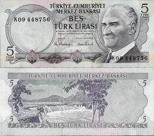 Turkey 1970 (1976) - 5 Lirasi - Pick 185 UNC - Turquie