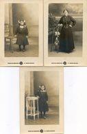 Lot De 3 Cartes Photos Prises En Studio - Séminaire  La Roche Sur Yon - Personnes Anonymes