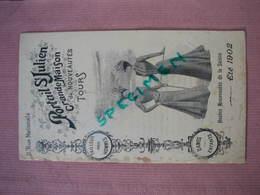 """Tours 1902 """"Portail St. Julien Grande Maison De Nouveautés Catalogue Mode Homme Femme Enfants TBE - Monsieur"""