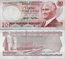 Turkey 1974 - 20 Lirasi - Pick 187 UNC - Turquie