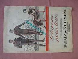 PALAIS Du VETEMENT 1925 TOURS 74 Rue Nat. Mode Femme Homme Enfants 14 Pages BE - He
