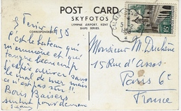 "1958- C P A  Paquebot S N C F "" Cote D'Azur ""  Affr. 15 F Oblit. Conv. Ligne CALAIS A PARIS 1° - Postmark Collection (Covers)"