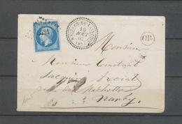 1862 Env N°14 PC 4431 CAD T22 Rouvres-en-Xaintois, Créé 6/1861  VOSGES(82) X4561 - Marcophilie (Lettres)