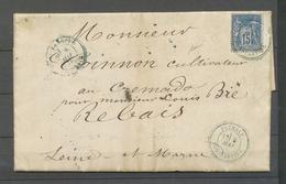 1880 Lettre 15c CAD T25 Tazmalt/Constantine, à Côté CAD T25 Beni-Mancour X4581 - Marcophilie (Lettres)