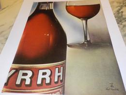 ANCIENNE    PUBLICITE APERITIF BYRRH 1954 - Alcools