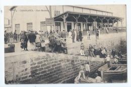 Cpa -  Maroc -    Casablanca     Gare Maritime  1924 - Non Classés