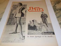 ANCIENNE AFFICHE PUBLICITE JALLA TISSUS EPONGE BOUSSAC  1954 - Habits & Linge D'époque