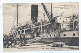 Cpa -  Maroc -    Casablanca    Embarquement Du Courrier De Marseille - Non Classés