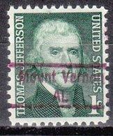 USA Precancel Vorausentwertung Preo, Locals Alabama, Mount Vernon 843 - Etats-Unis
