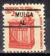 USA Precancel Vorausentwertung Preo, Locals Alabama, Mulga 841 - Vereinigte Staaten