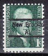 USA Precancel Vorausentwertung Preo, Locals Alabama, New Brockton 843 - Vereinigte Staaten