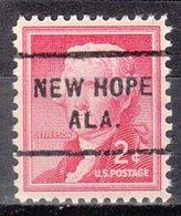 USA Precancel Vorausentwertung Preo, Locals Alabama, New Hope712 - Vereinigte Staaten