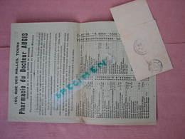 PHARMACIE AUGIS 1912 Tours 103 Rue Des Halles Catalogue 8 Pages 165X240 Avec Bande D'envoi Tamponnée TBE - Matériel Médical & Dentaire