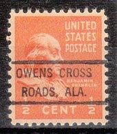USA Precancel Vorausentwertung Preo, Locals Alabama, Owens Cross Roads - Vereinigte Staaten