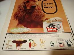 ANCIENNE PUBLICITE FIDO CHIEN 1965 - Autres Collections