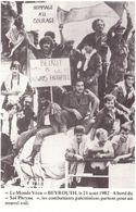 Le Monde Vécu Carte Numérotée 50 Beyrouth 21 Aout 1982 A Bord Du Sol Phryng Les Combattants Palestiniens - Histoire