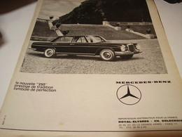 ANCIENNE PUBLICITE VOITURE MERCEDES BENZ  250 1965 - Voitures