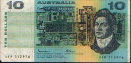 AUSTRALIE -10 Dollars - Emissions De La Banque Nationale 1910