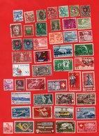 Lot De 45 Timbres  HELVETIA SUISSE Oblitérés - Collections