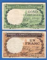 Perpignan  2  Billets - Chambre De Commerce
