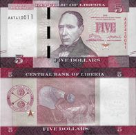 Liberia 2016 - 5 Dollars - Pick 31 UNC - Liberia