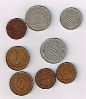 Jordanien  8 Münzen Um 1960    #m178 - Jordanie