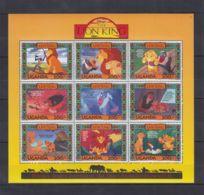 D583. Uganda - MNH - Cartoons - Disney's - Cartoon Characters - Lion King - Disney