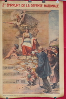Rfra152 POSTER - WW1 Affiche 2eme EMPRUNT DE LA DEFENSE NATIONALE Alcide ROBAUDI - Livres & Logiciels