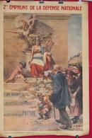 Rfra152 POSTER - WW1 Affiche Entoilé 2eme EMPRUNT DE LA DEFENSE NATIONALE Alcide ROBAUDI - Livres & Logiciels